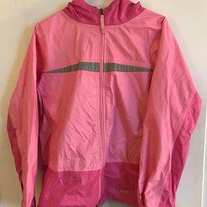 Pink LL Bean kids raincoat